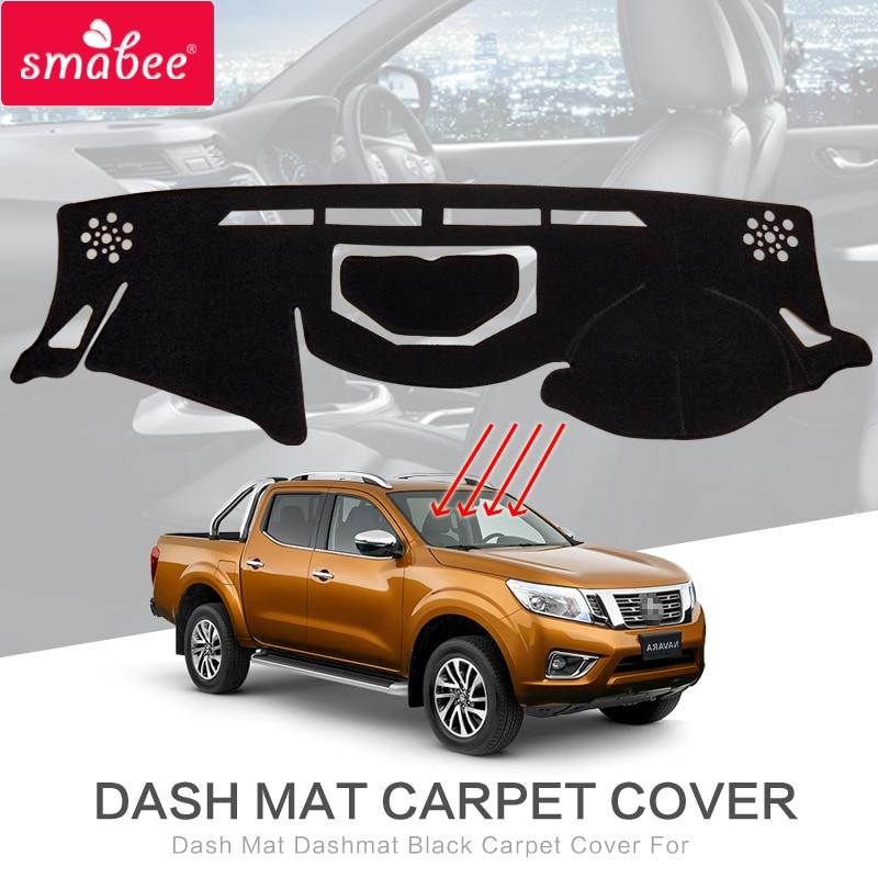 Para Nissan Navara NP300 D23 2015, 2016, 2017, 2018, 2019 Anti-Slip Mat almohadilla de la cubierta del tablero sombrilla alfombra dashmat Accesorios