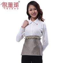 Trajes de protección de la radiación de la fibra de plata de maternidad delantal de protección de la radiación del pecho del estilo chino que cubre la fibra 99% de nylon plateado
