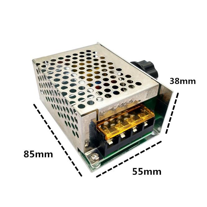 Регулятор напряжения с регулятором яркости, электронный регулятор яркости, термостат, трансформатор, 4000 Вт, 10-220 В