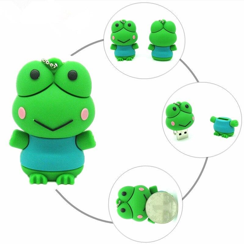 Best selling usb flash drive cartoon Frog pen drive 4GB 8GB 16GB 32GB memory u disk pendrive personalized computer gift