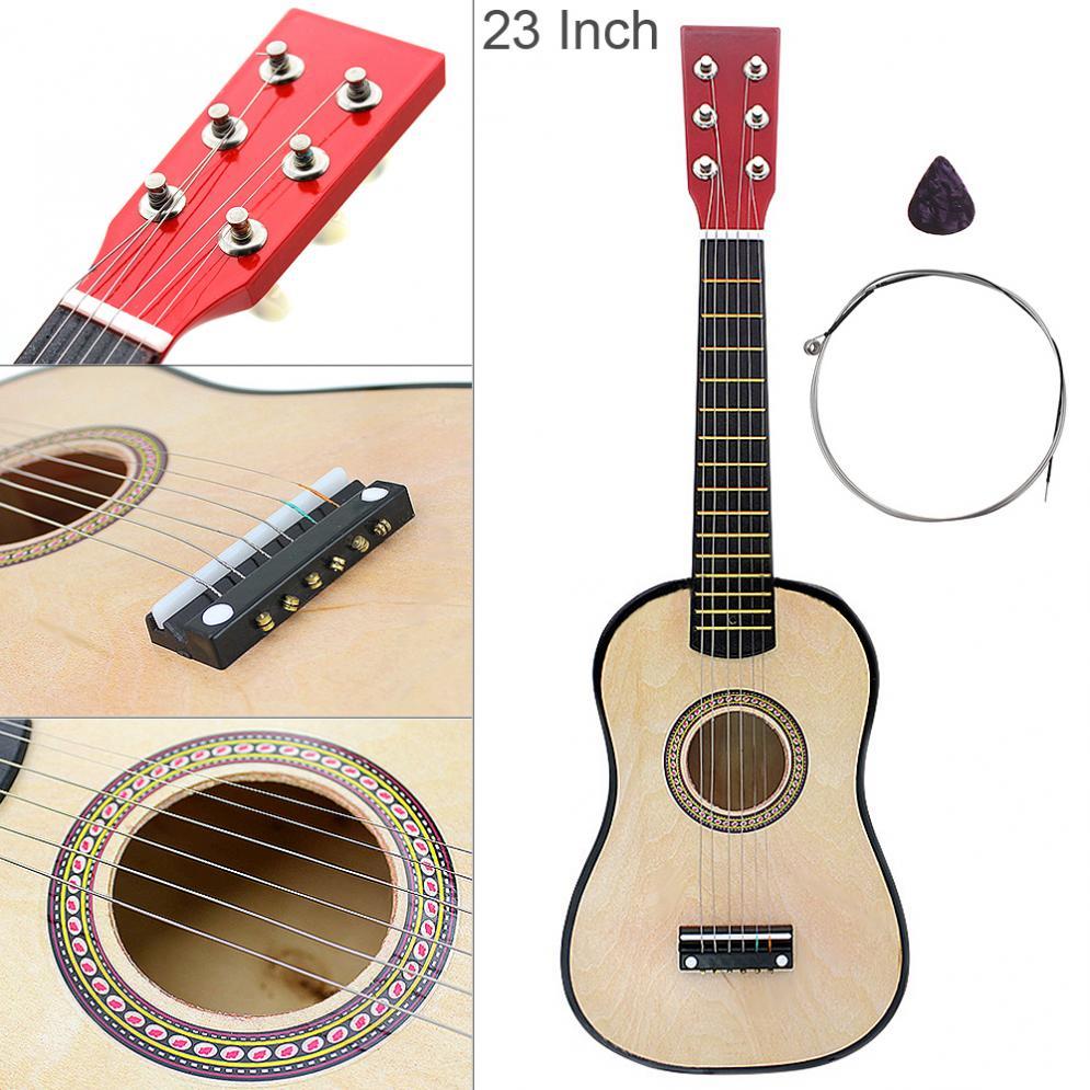 Гавайская гитара 23 дюймов Акустическая из липы древесины Цвет 6 струнных с