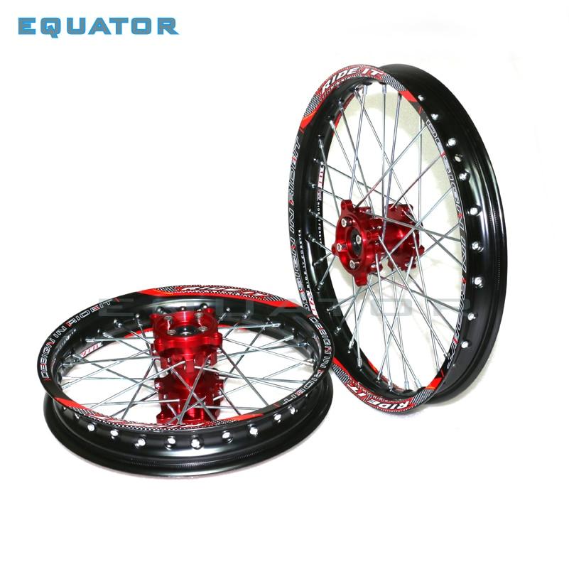 Dirt Pit bike 15mm Front 1.60x17 Rear 1.85x14 inch Alloy Wheel Rim with CNC Hub For KAYO HR-160cc TY150CC 14/17 inch wheel