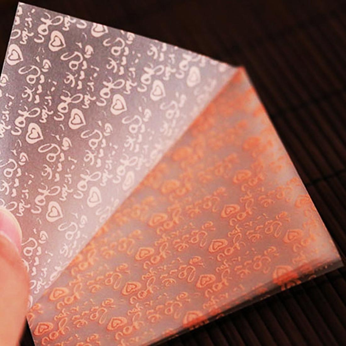 Arte de colección de recortes hecho a mano para niños, decoración de regalo I Love You Pattern papel de Origami cuadrado, papeles plegables de un solo lado
