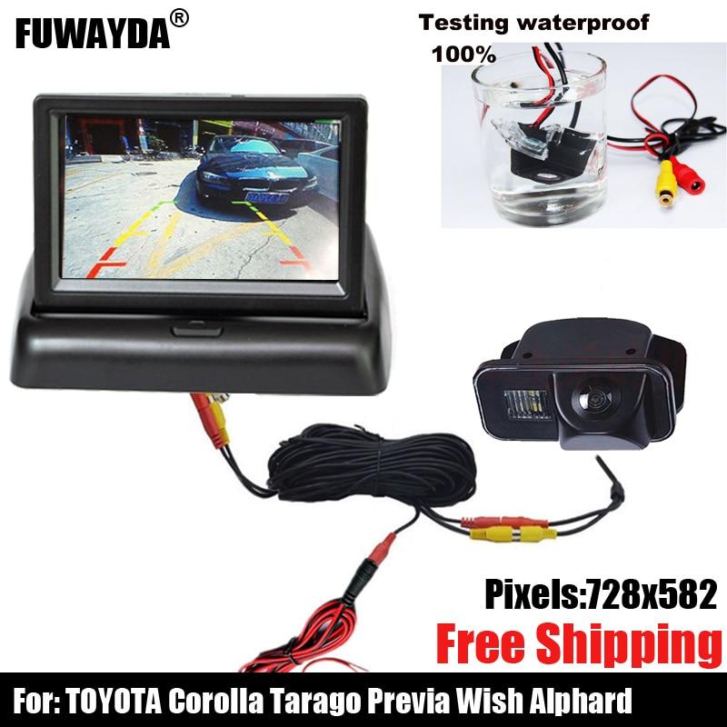 SONY CCD Chip vista trasera de coche imagen de espejo reverso con cámara de línea de guía para TOYOTA SIENNA/SCION XB XD/URBAN CRUISER/AURIS/SIENNA