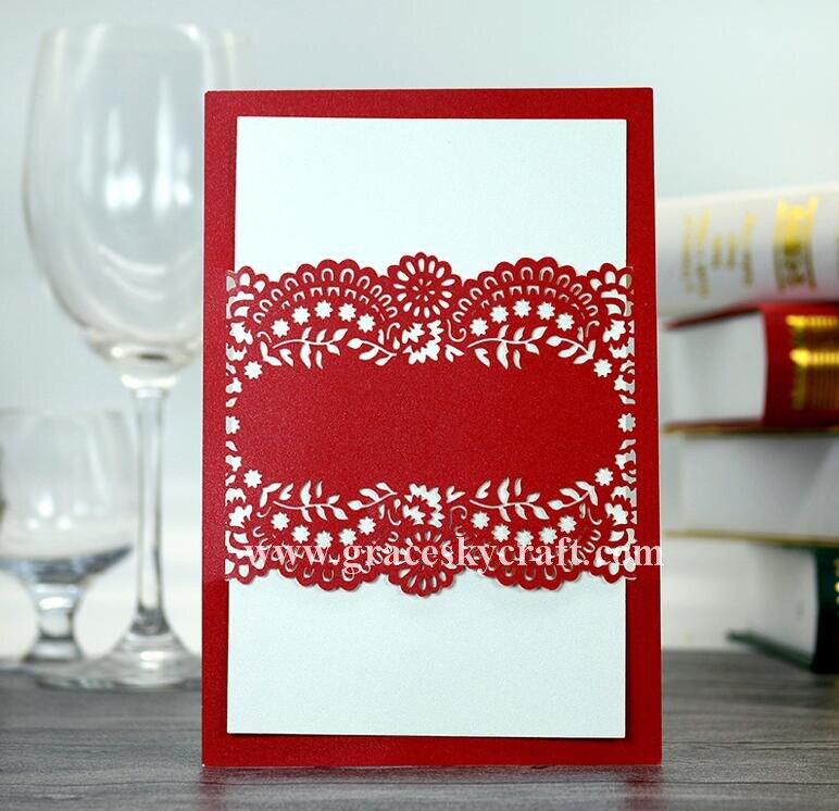 50 piezas Newfree envío láser corte invitación de la boda tarjetas de...