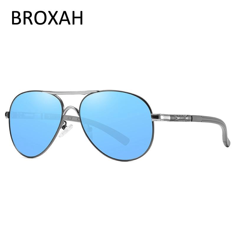 Модные мужские солнцезащитные очки-авиаторы, фирменные поляризационные женские солнцезащитные очки для мужчин, мужские очки для вождения ...
