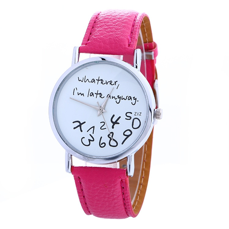 Luxury Brand Leather Quartz Watch Women Ladies Men Fashion Bracelet Wrist Watch Wristwatches Clock R