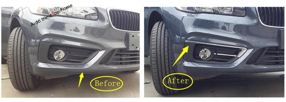 Yimaautorthims cromado faros antiniebla delanteros cubierta de niebla ajuste para BMW 2 Series Active Tourer 2015-2018 F45 F46 220i 228i