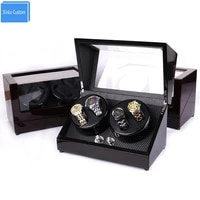 watch winders for automatic watches 4 color 4 watches rotate display japan mabuchi motor wood leather knob case display cabinet