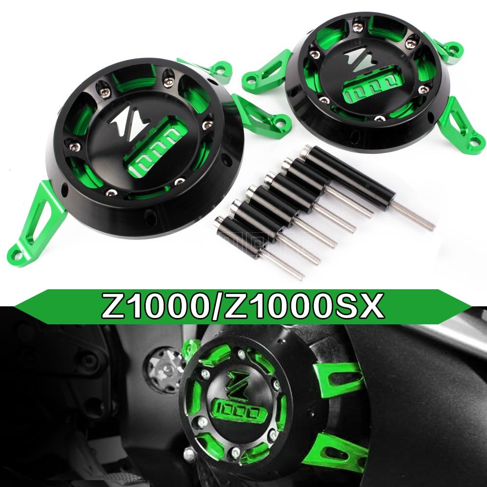 Para kawasaki Z1000 Z1000 R 2010-2019 accesorios de motocicleta protector de la cubierta protectora del motor protector de carenado Sliders bloc de choque