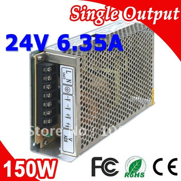 S-150-24 LED Switching Power Supply 110V 220V AC to DC 24V 6.5A 150W Output