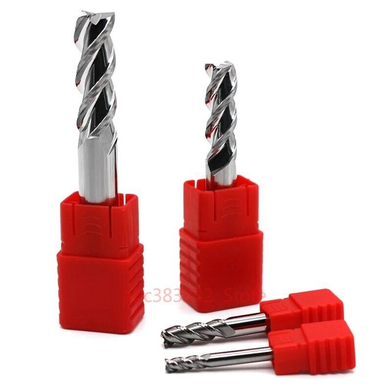 1 pçs 50 graus 3 flautas de tungstênio aço face end mill haste reta alumínio processamento fresa bits