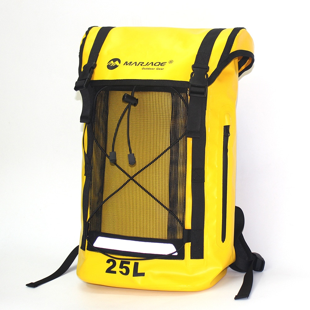 Bolsa impermeable de 25L, bolsa seca de PVC, bolsa de hombro para acampada, escalada, senderismo, mochila impermeable para Rafting y rastreo de Río