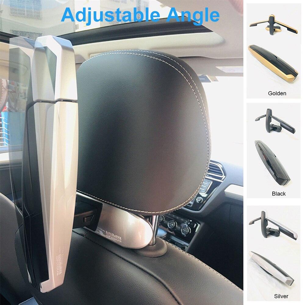 Car Coat Hanger Mutifunction Car Seat Back Clip Clothes Suit Jacket Slip Hanger Folding Vehicle Fastener Back Seat Coat Hanger enlarge