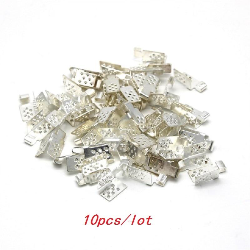 MINCO HEAT 10/20/30/40/50/100PCS Underfloor Heating Film Clamps Special Silver Connectors