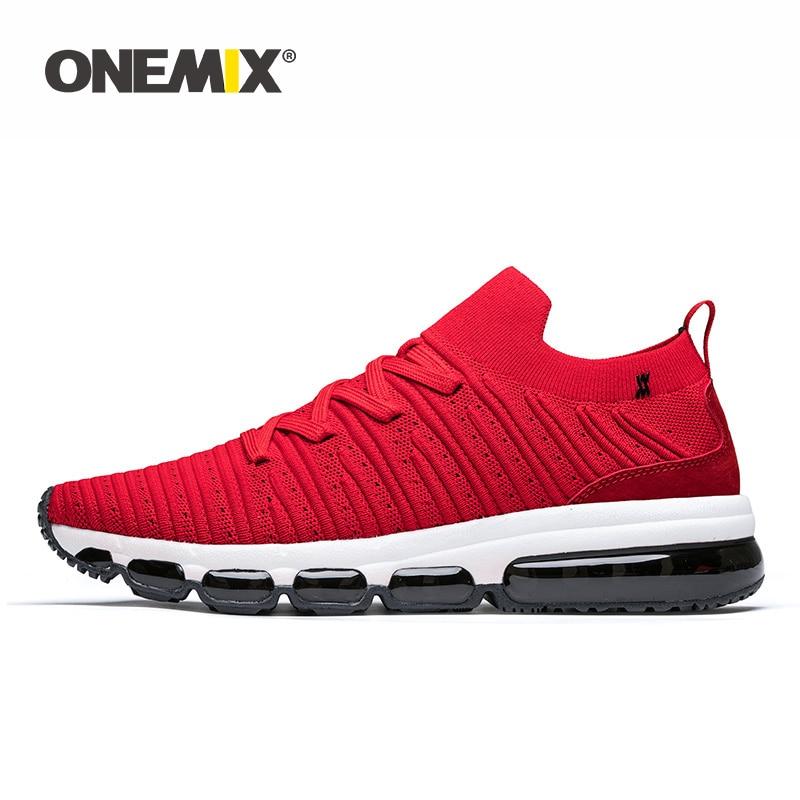 ONEMIX-أحذية رياضية للرجال ، خفيفة الوزن ، ناعمة ، قماش منسوج ، بدون أربطة ، مع توسيد هوائي ، أحذية تدريب للركض ، زوجين غير رسمي ، بدون كعب