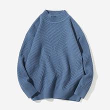 Fashion sweater man keep warm Men's 2019 new loose sweater male turtleneck sweater coat render unlined upper garment