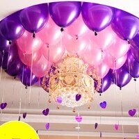 50 pcslot 12 inch 2 8g latex balloon helium round balloons thick pearl purple pink balloons wedding party birthday baby