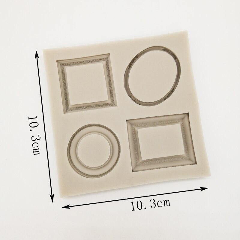 Quadro de imagem retro europeu molde de silicone fondant molde bolo ferramentas decoração moldes de chocolate, sugarcraft, gadgets cozinha