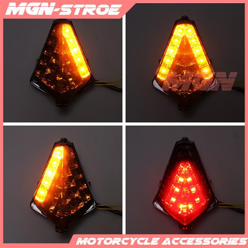 دراجة نارية LED الخلفية بدوره إشارة الذيل إيقاف الضوء مصباح المتكاملة ل YZF1000 YZF R1 2007 2008 07 08 TMAX530 T-MAX530 2012 13 14 1