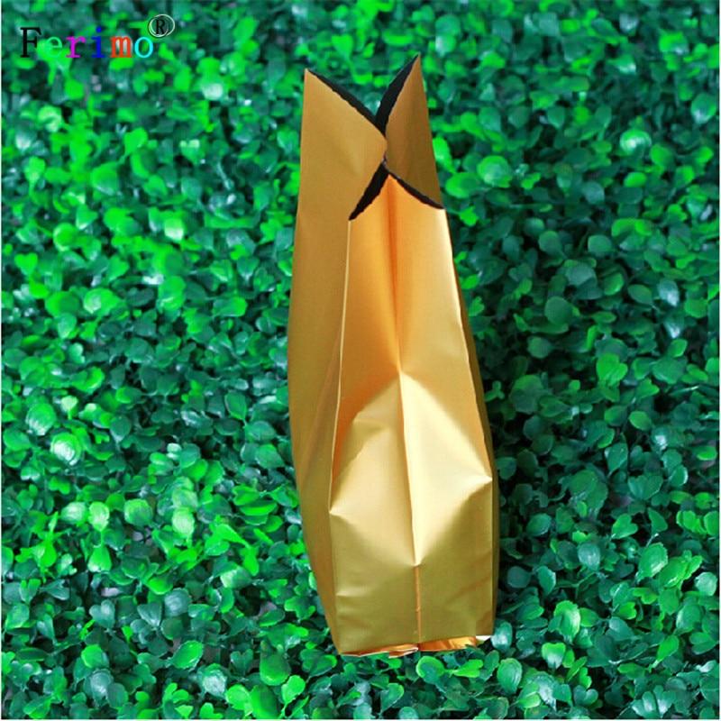 Ferimo-أكياس عضو من الألومنيوم ، 100 × 20 سنتيمتر ، 7.5 قطعة ، لون ذهبي غامق ، شاي ، طعام ، تغليف عالي الجودة