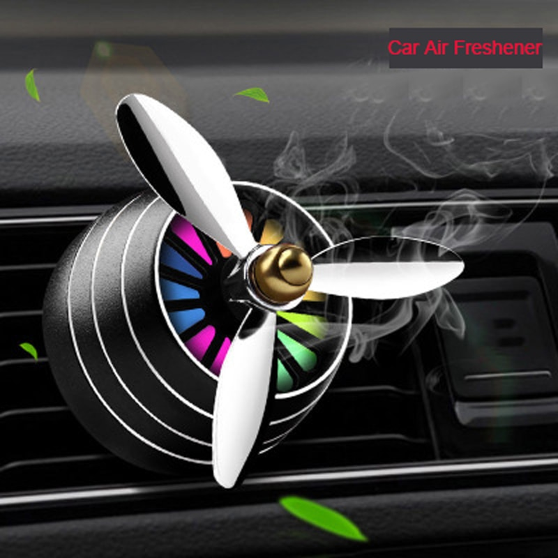 Ambientador de aire del coche de buen olor LED Mini acondicionado Ventilación clip de perfume de salida fresco aromaterapia fragancia de aleación de coche accesorios