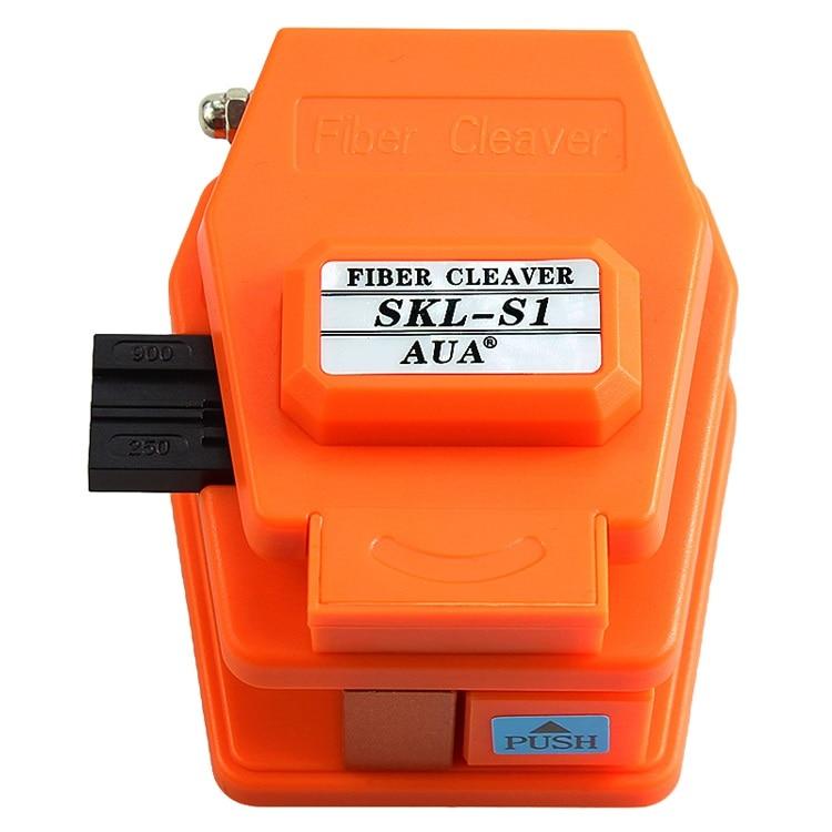 Material plástico FTTH SKL-S1 cuchilla de fibra óptica, herramientas de cortador de fibra óptica 250um-900um con 3 en 1 accesorio