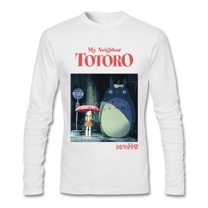 New Coming Studio Ghibli My Neighbor Totoro Clothing For Mens Cotton T Shirt Cool Design Low Price Crewneck For Mens Tee