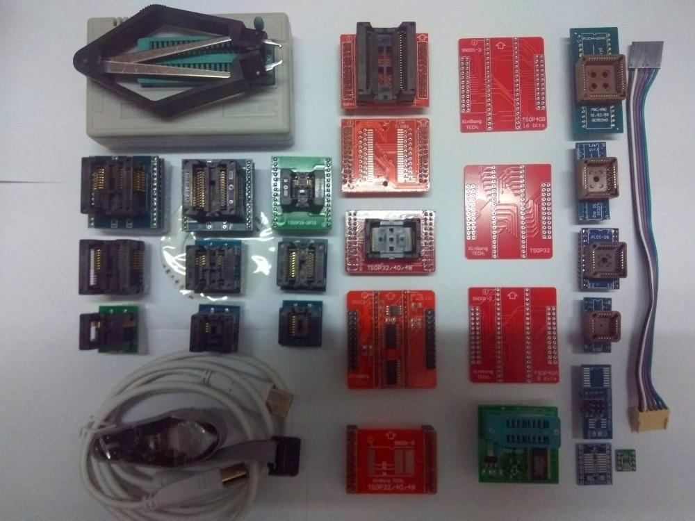 مبرمج عالمي Minipro PIC USB BIOS ECU, أصلي 100% V10.41 TL866II Plus Minipro USB BIOS ECU مبرمج عالمي + 25 قطعة + مشبك SOIC8 أفضل من TL866A TL866CS