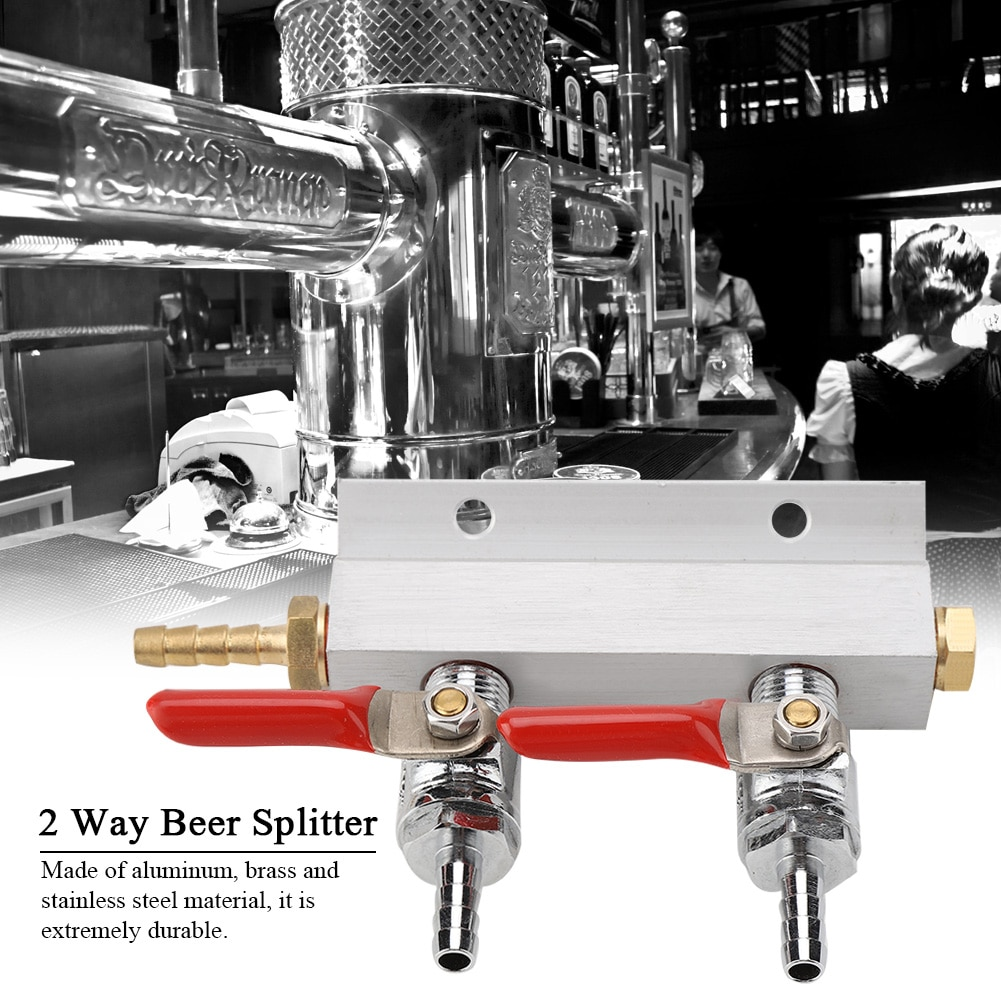 Muti-way Home Co2 Air Gas Manifold Distribution Splitter Beer 2 Way