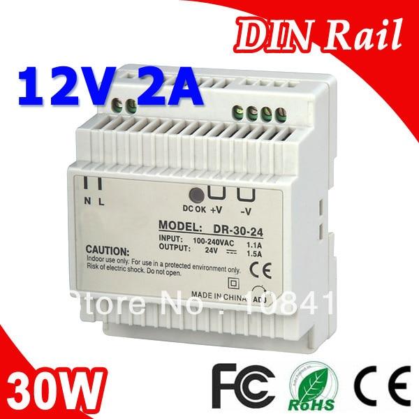 Fuente de alimentación de conmutación de carril Din DR-30-12 LED 12 V 2 a 30 W de salida