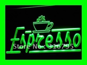 i075 Espresso Coffee Shop Cafe Club LED Neon Light Light Signs On/Off Switch 20+ Colors 5 Sizes