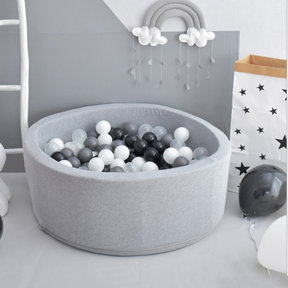Круглый детский манеж INS Ocean Ball Pit Baby Pool Младенческая губка детский манеж Мягкий красочный шар ямы детский забор декор комнаты