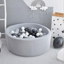 Runde Kinder Laufstall INS Ozean Ball Pit Baby Pool Infant Schwamm kinder Laufstall Weiche Bunte Ball Gruben Baby Zaun room Decor