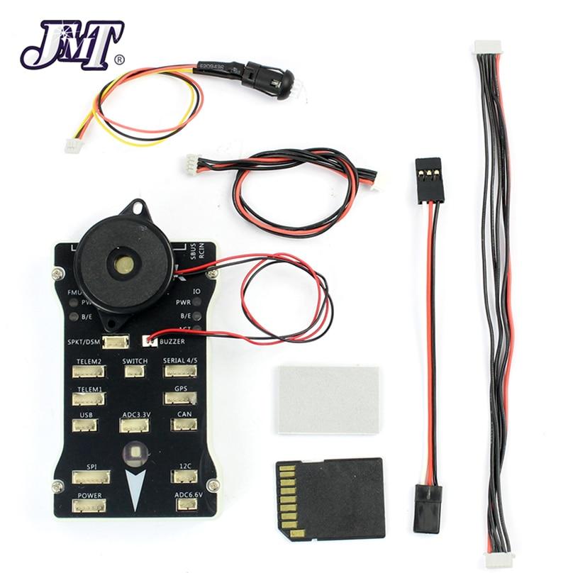 Controlador de vuelo JMT 2.4.8 32 Bit integrado PX4FMU PX4IO interruptor de seguridad zumbador 1G SD para DIY RC Dron multirrotor