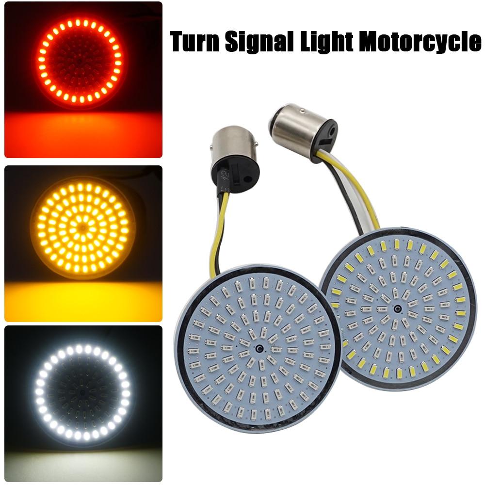 Мотоцикл пуля указатель поворота световой индикатор лампа 1156 1157 белый/янтарный светодиодные вставки свет для Moto Harley Sportster Dyna FLSTF