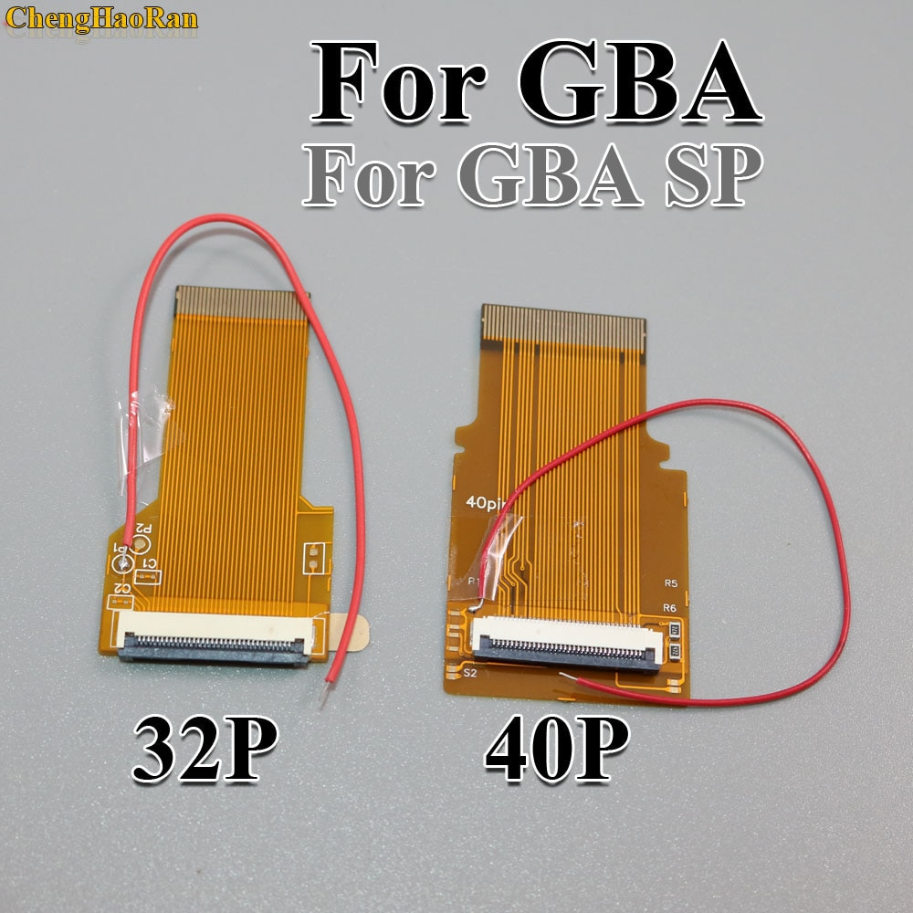 ChengHaoRan 2pcs 32P 40P For GameBoy Advance GBA Ribbon Cable 32pin 40 Pin AGS 101 Backlit Adapter Screen Mod W/ Cable