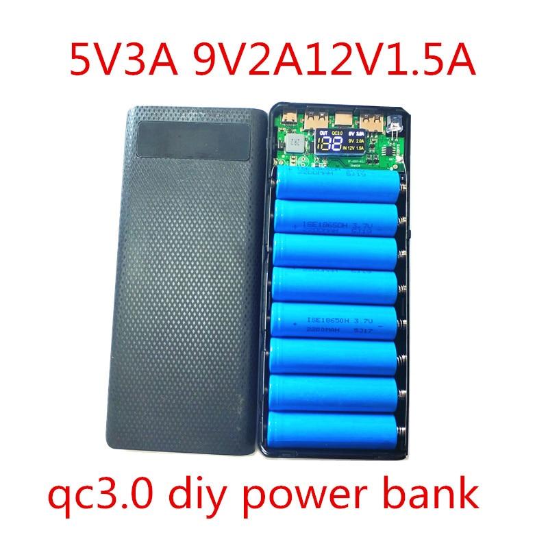 Quick charge 3,0 power bank 18650 чехол QC3.0 Power Bank 5V 9V 12V DIY kit power bank 2a 18650 батарея Быстрая зарядка коробка корпус DIY