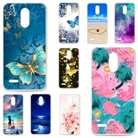 tpu cases for lg stylus 3 case silicone floral painted bumper for lg stylo 3 k10 pro ls777 m400dk 5 7 inch phone cover fundas