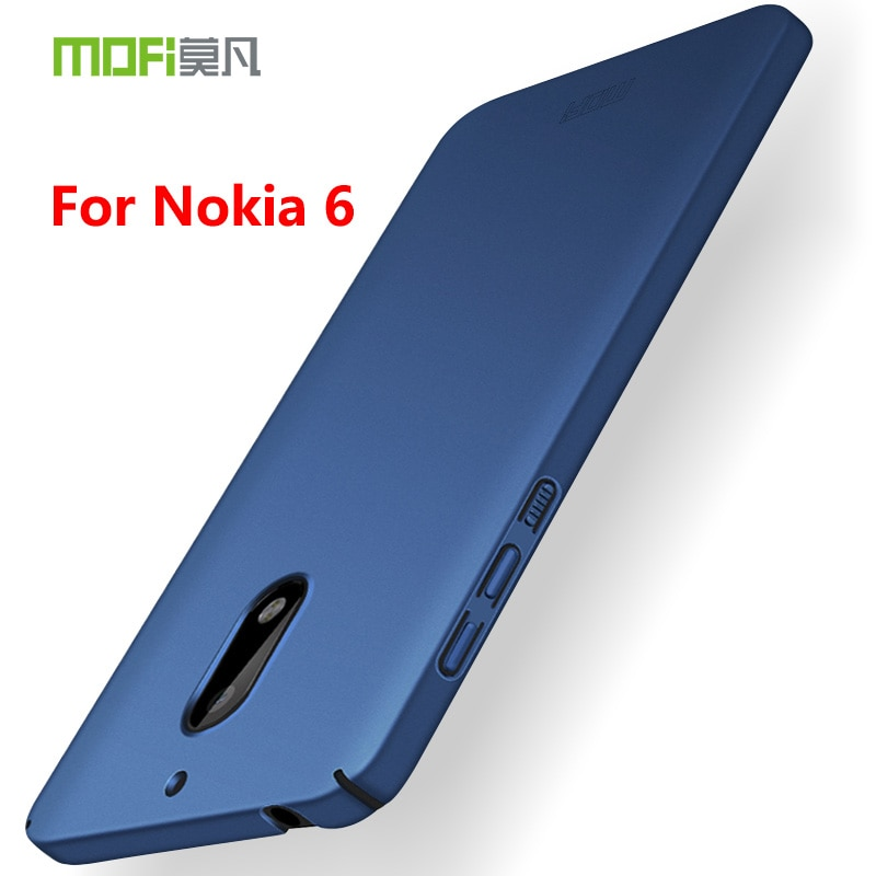 Para Nokia 6 Original funda de MOFI Classic Frosted PC protector de espalda dura funda de teléfono para Nokia 6 funda de plástico