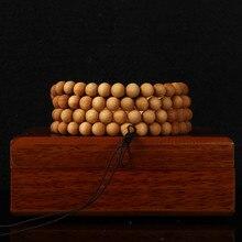 6mm 8mm wengé fait à la main 108 tibétain torsion bouddha perle Bracelet prière perle Mala Bracelet pour femmes hommes pulseras bijoux