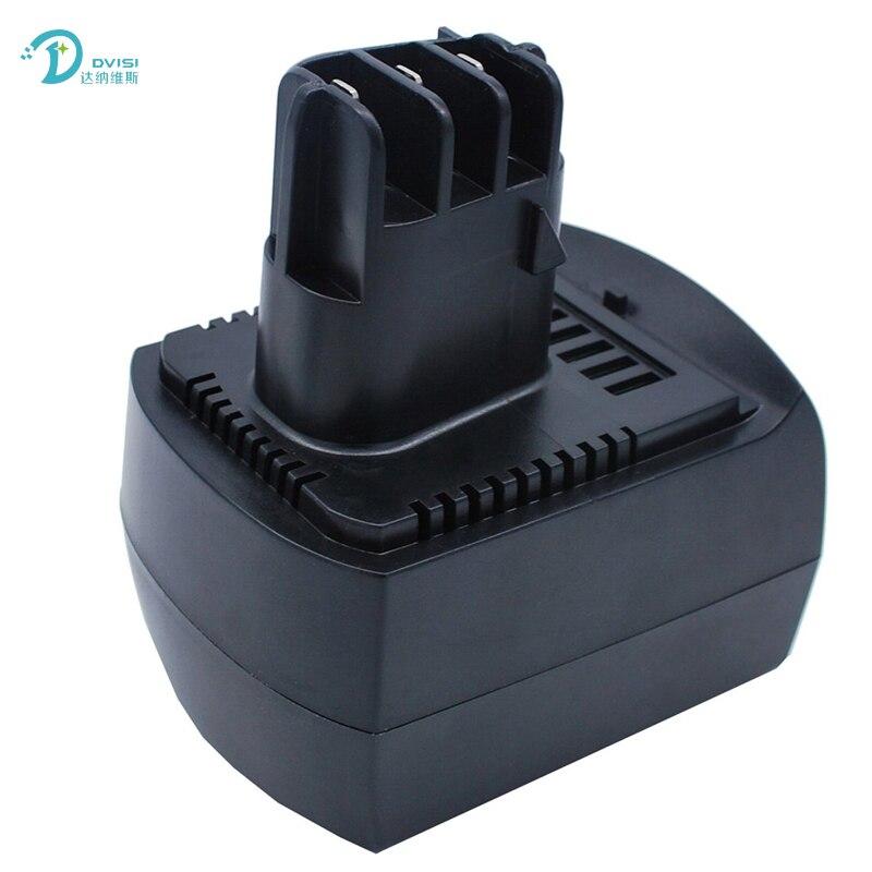 Nuevos paquetes de baterías de repuesto para herramienta eléctrica recargable ni-cd de 1500mAh para METABO 12V BSZ12 BS12SP