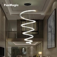 large spiral luxurious crystal pendant light hotel hall lighting ceiling fixture villa living room stairs hanging lamp droplight