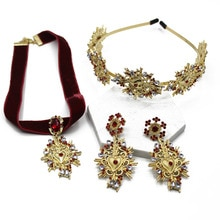Exagéré Baroque coeur diadème cristal tête bandeaux cheveux bijoux à la mode cheveux accessoires mariée bandeau 140
