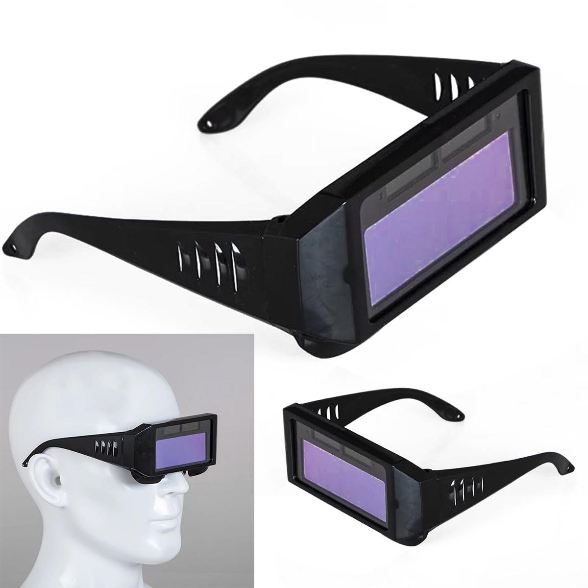 New Solar Auto Darkening Welding Glasses Welding Mask Helmet Eyes Goggle Welder Glasses Arc Welding Tool Accessories