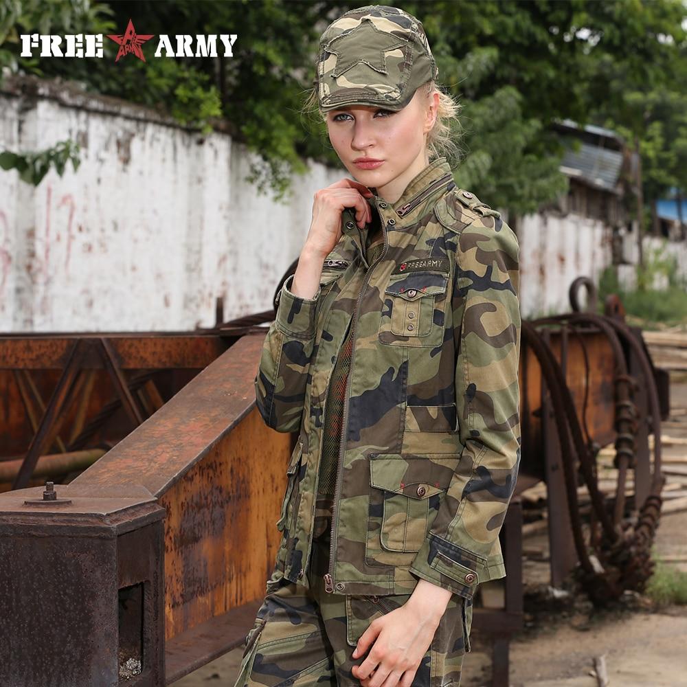 جديد الأزياء العسكرية التمويه إمرأة سترة معطف الخريف الوقوف طوق جاكيتات و معاطف سستة ضئيلة العلامة التجارية سترة النساء Gs-8253B