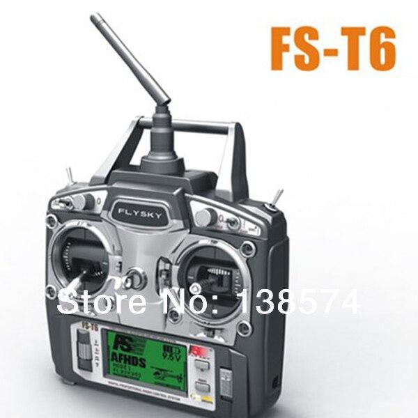Flysky FS-T6 V2 2,4 GHz 6CH LCD transmisor y receptor Sistema modo 2