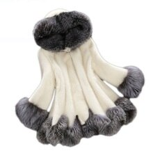 Manteau de fourrure de vison de luxe femmes manteau de fourrure de renard manteau à capuche Oversize grande poche 4XL vêtements de sortie dhiver Parkas cape Poncho Q4272