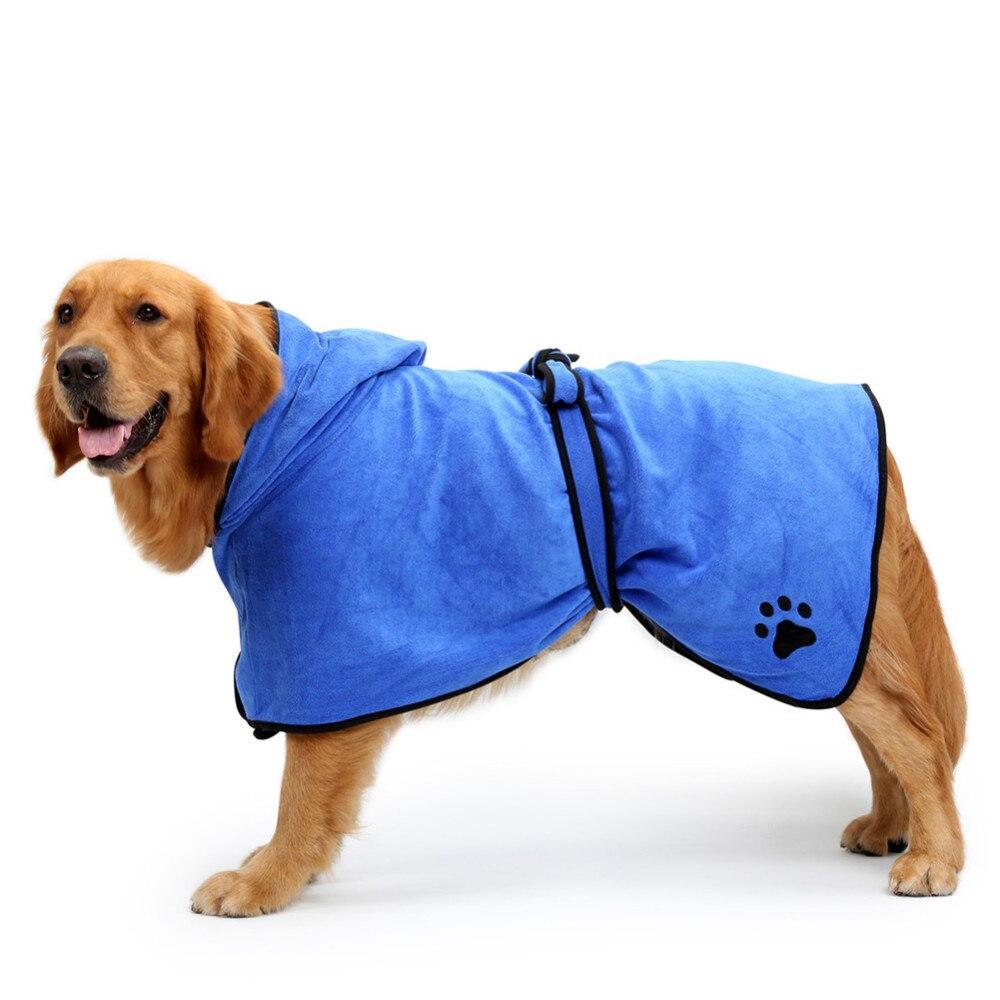 Albornoz de perro cálido de alta calidad, toalla de secado para mascotas súper absorbente, Toalla de baño de mascotas con capucha y bordado de calidad, Toalla de baño de mascotas