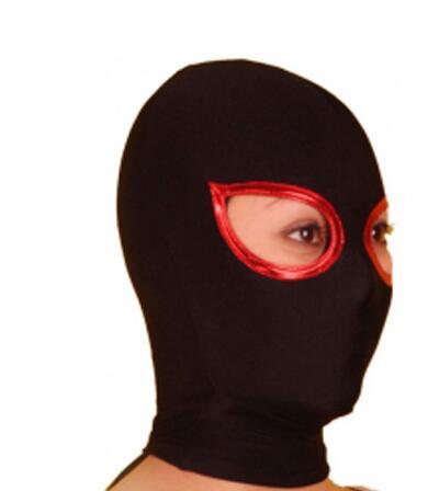 Lycra Spandex Zentai Preto Capô Máscara de Olhos Abertos Bodysuit Frete Grátis